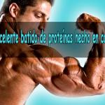Batido de proteínas hecho en casa