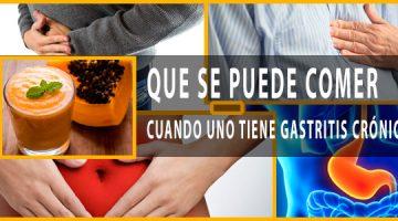 Que Se Puede Comer Cuando Uno Tiene Gastritis Crónica