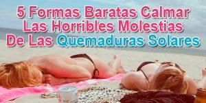 5 Formas Baratas Calmar Las Horribles Molestias De Las Quemaduras Solares